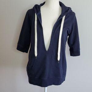 J.Crew vintage french terry navy blue hoodie sz M